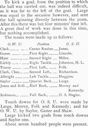 Songs Of The Ohio State University First Football Game May 3 1890